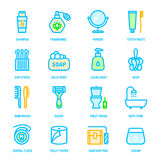 Colorful personal hygiene icons Stock Images
