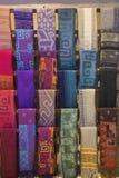 Colorful Peruvian Alpaca wool textiles Royalty Free Stock Image