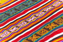 Colorful peruvian rug Stock Images