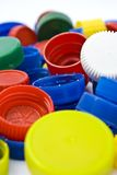Colorful pet bottle caps as recycling concept Royalty Free Stock Photo