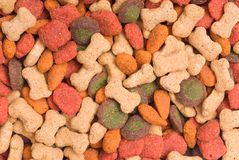 Colorful  Pet Food Detail Background Royalty Free Stock Images