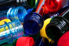 Free Colorful PET Preforms For Plastic Bottles And Cups Stock Image - 134816631