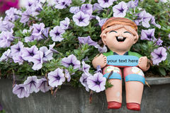 Colorful petunias close-up Stock Images