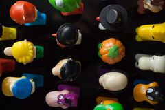 Colorful Pez Dispensers royalty free stock photos