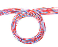 Colorful phone cables Royalty Free Stock Photos