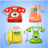 Colorful Phone icons Royalty Free Stock Photo