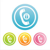 Colorful phone signs Stock Photography