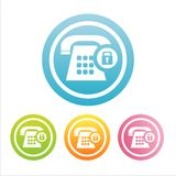 colorful phone signs Royalty Free Stock Image