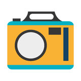 colorful photo camera,  graphic Stock Images