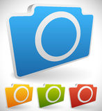 Colorful Photo Camera Icons Royalty Free Stock Photos