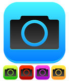 Colorful Photo Camera Icons - W/ Rounded Black Camera Symbol Royalty Free Stock Image