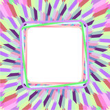 Colorful photo frame royalty free illustration