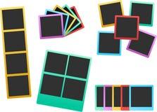 Colorful photo frame set 2 Stock Image