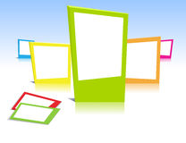 Colorful photo frames Stock Photos