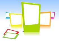 Colorful photo frames Stock Photos