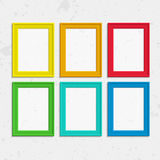 Colorful photo frames. Set of colorful wooden frames. Wooden square picture frames of colorful set for your web design. Abstract colorful picture frames on Royalty Free Stock Image