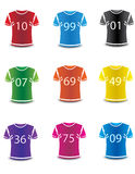 Colorful Photo realistic sports wear vector. Royalty Free Stock Photography