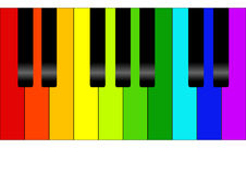Colorful piano. Editable vector colorful piano background Stock Photos