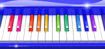 Colorful Piano. Image include vector clipping path Royalty Free Stock Photography