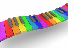 Colorful Piano - 3D. Colorful Piano on white background Stock Photography