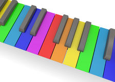 Colorful Piano - 3D. Colorful Piano on white background Royalty Free Stock Images