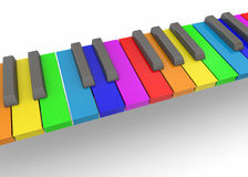 Colorful Piano - 3D. Colorful Piano on white background Stock Photos