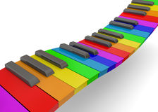 Colorful Piano - 3D. Colorful Piano on white background Royalty Free Stock Image