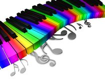 Colorful piano keys Stock Image