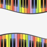 Colorful piano keys background wallpaper template illustration Royalty Free Stock Photography