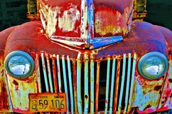 Colorful 56' Pickup Truck. Rustic and rusted the colors on this truck in decay create a palette of beautiful colors and hues Stock Images