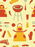 Picnic seamless pattern Royalty Free Stock Photos