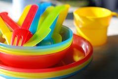 Colorful picnic ware Stock Image