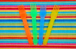 Colorful Picnic Ware royalty free stock photo