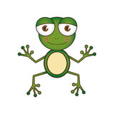 Colorful picture cartoon cute toad amphibian Royalty Free Stock Images