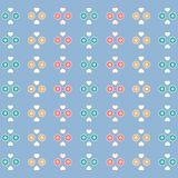 Cute pattern with hearts and flowers on a color background. Colorful picture: the cute pattern with hearts and flowers on a color background Royalty Free Illustration