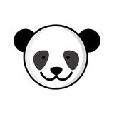 colorful picture face cute panda animal Stock Photography