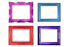 Colorful picture frame Stock Image