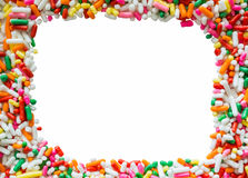 Colorful Picture Frame On White Screen, That Make By Cake Decor Stock Photography