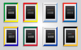 Colorful picture frame Royalty Free Stock Photo