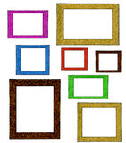 Colorful Picture Frames Stock Photo