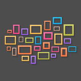 Colorful picture frames background Stock Photos