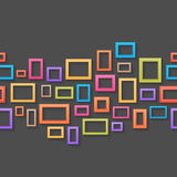Colorful picture frames seamless background Royalty Free Stock Images