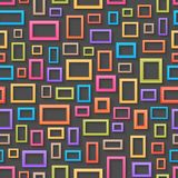 Colorful picture frames seamless background Stock Photography