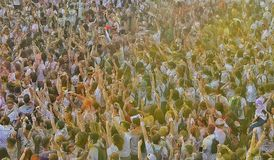 The Color Run Hero Tour Bucharest stock photography