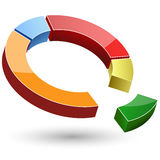 Colorful pie chart Royalty Free Stock Photography