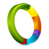 Colorful pie chart. Illustration of colorful pie chart on white background Stock Image