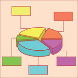 Colorful pie chart Royalty Free Stock Image