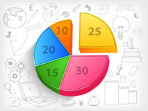 Colorful pie chart for business. Stock Photography