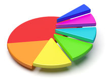 Colorful pie chart in form of ascending stairs Stock Image