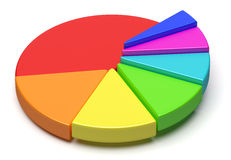 Colorful pie chart in form of stairs Stock Photos